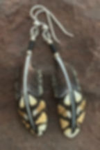 Sharp-tailed Grouse Feather Earrings-Bon