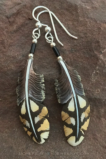 Sharp Tailed Grouse Bone Feather Jewelry