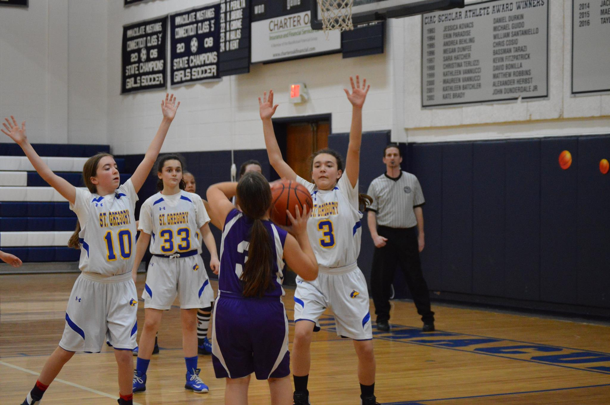 #SGSDanbury JV Girls on the Defense!