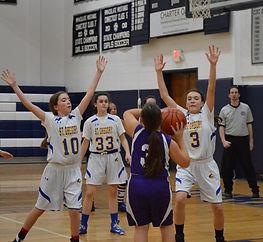 #SGS JV Girls Basketball on Defense