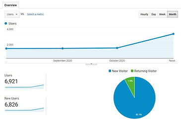 Example of Google Analytics Data
