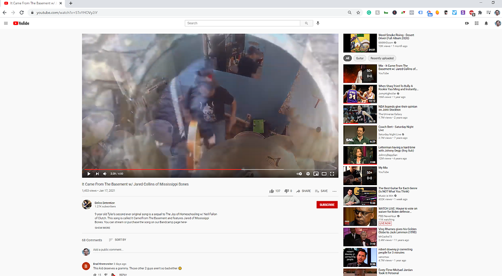 YouTube Video and Sidebar Example