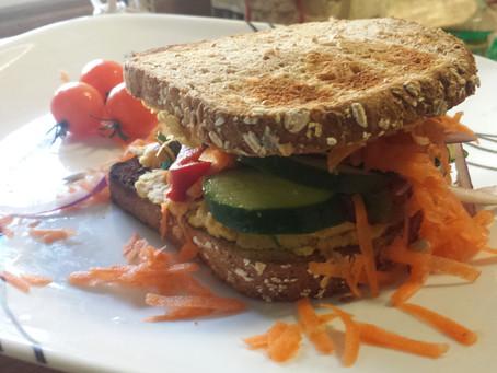 Veggie-Hummus Sandwich