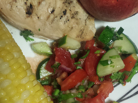 Weeknight Summer Dinner – a Quick Inspiration: with Salsa-Salad