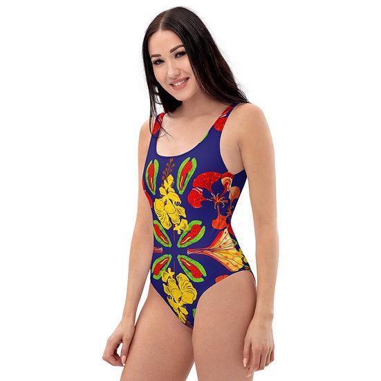 Gulmohar Mandala One-Piece Swimsuit