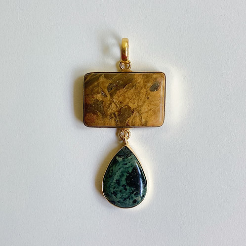 Jasper Tiered Pendant & Chain