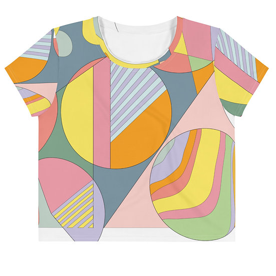 Earthscapes 1 Easy Fit All-Over Print Crop Tee