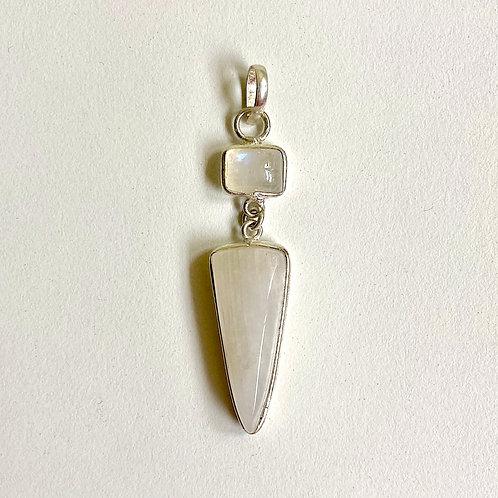 Mini Moonstone Dagger Tiered Pendant & Chain