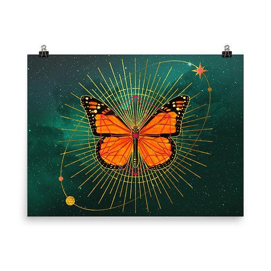 Cosmic Butterfly Matte Print