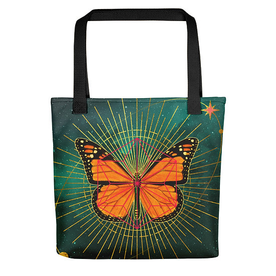 Cosmic Butterfly Large Tote bag