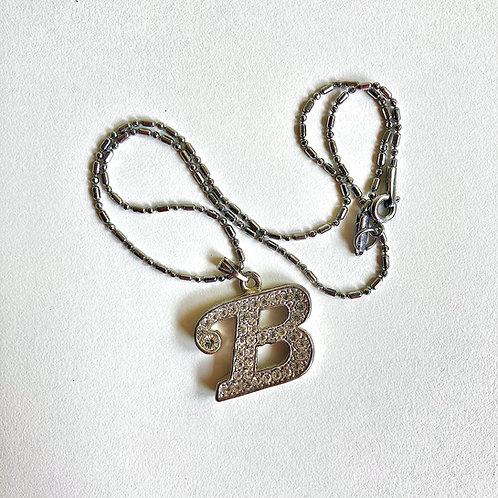 Old-school Letter Pendant w/ Chain