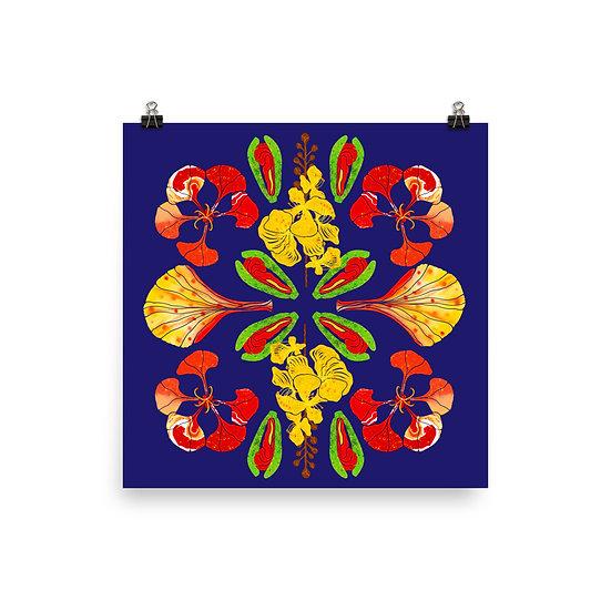 Gulmohar Mandala Matte Print