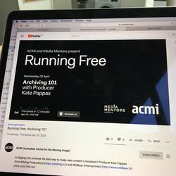 ACMI and Media Mentors present Running Free poster