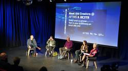 Denise Eriksen hosting a Meet the Creators event