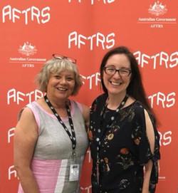 Esther Coleman-Hawkins & Denise Eriksen at an AFTRS event