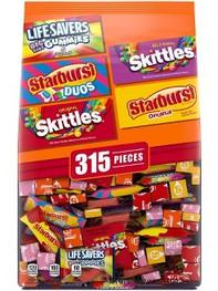 Starburst, Skittles, & Life Savers Halloween Candy Variety Pack - 97.68oz/315ct