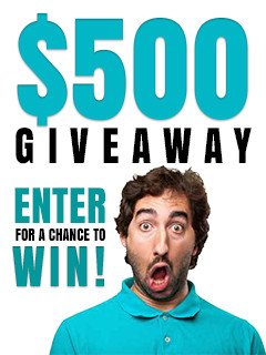 Man excited about a giveaway