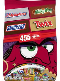 Mars, Milky Way, Twix, 3 Muskateers, Snickers Halloween Chocolate Bag - 130.57oz/455ct