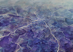 Pejzażografia I, 100x140cm, olej na płótnie, 2014 (2)