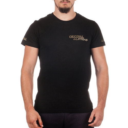 CAMISETA NEGRA ORIGINAL CLOTHING (LOGO DORADO)