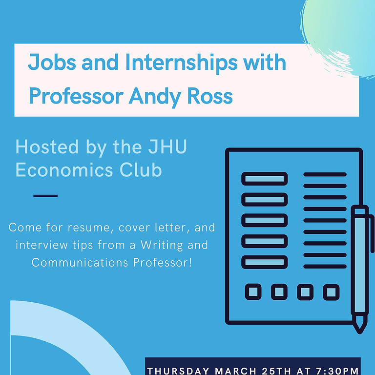 JHU Economics Club: Mastering Resumes, Cover Letters, and Job Interviews