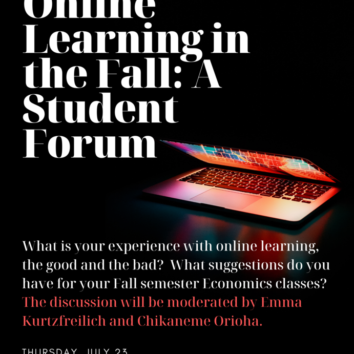 Online Learning in the Fall: A Student Forum