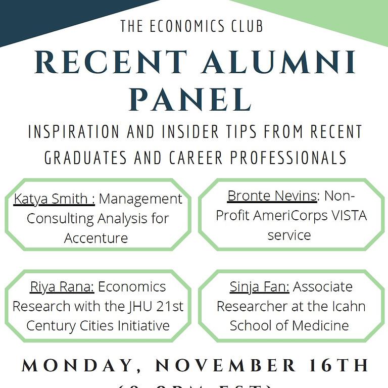Recent Alumni Panel Event