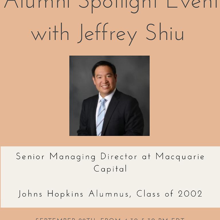 Alumni Spotlight Event with Jeffrey Shiu
