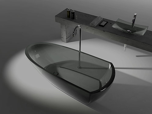 Transparente Badewanne aus Resin LX6592 B2