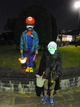 Mario and a Skeleton