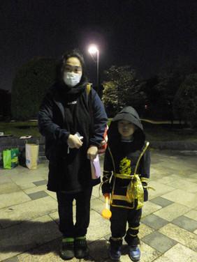 Ninja and Mom