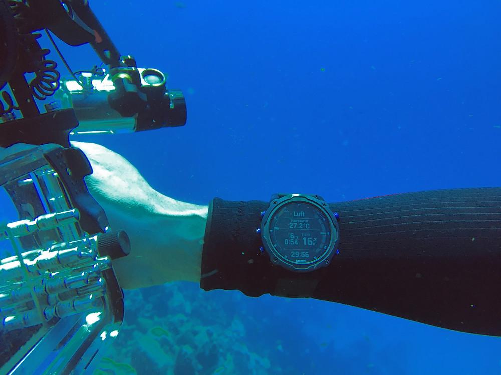 Descent MK2i unter Wasser