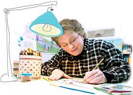 Marji with cartoon lamp.jpg