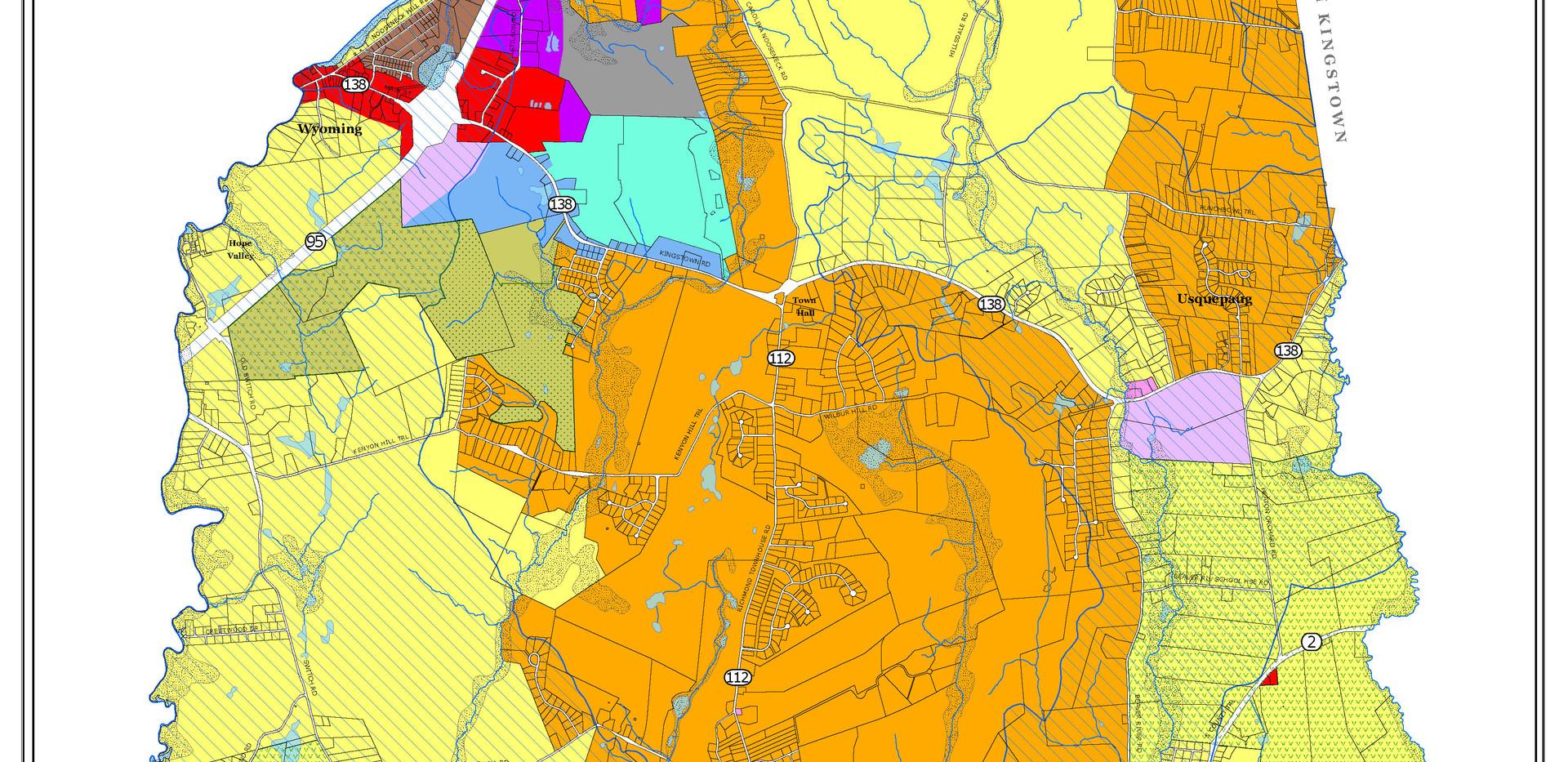 Richmond, RI. Zoning Map