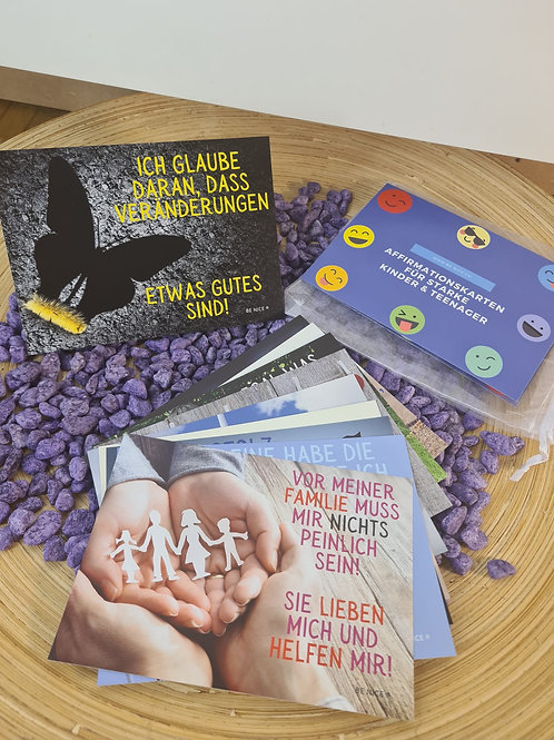Affirmationskarten für starke Kinder & Teenager - Erweiterungsset Blau