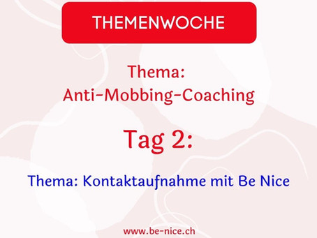 Themawoche: Anti-Mobbing-Coaching Tag 2