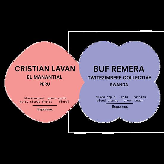 Mixed Espresso Pack | Buf Remera & Cristian Lavan