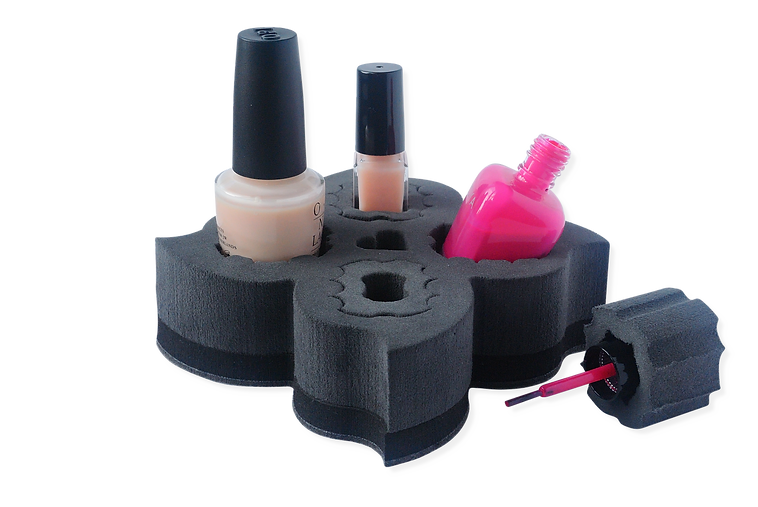 Polish Posy Spill Proof Nail Polish Holder & Organizer in Charcoal Black Color