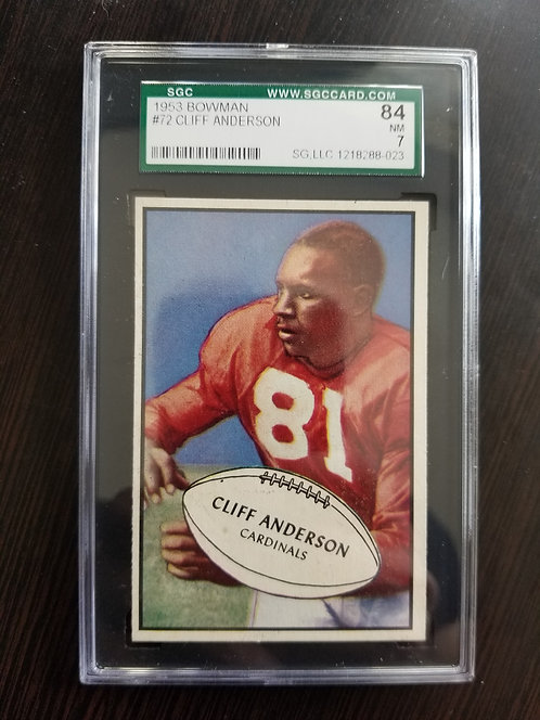 1953 Bowman Cliff Anderson