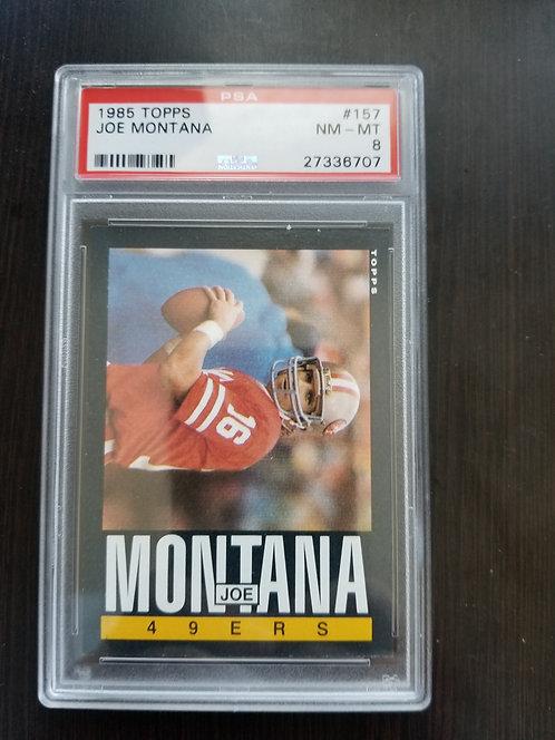 1985 Topps Joe Montana PSA 8