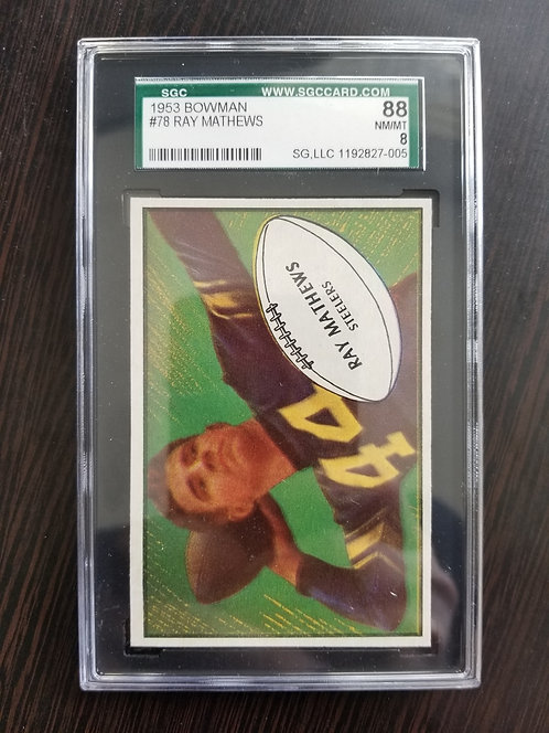 1953 Bowman Ray Mathews