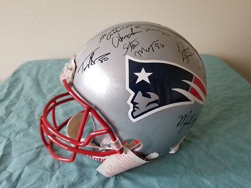 Patriots Legends Multi-Signed Full Size Helmet