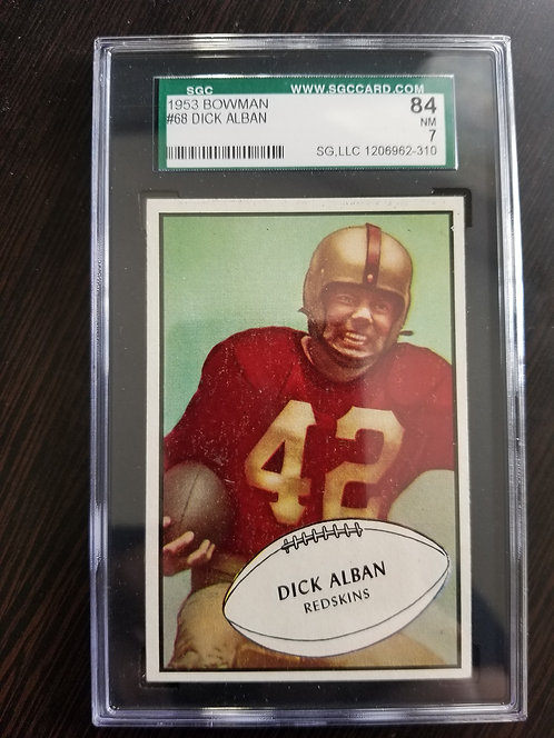 1953 Bowman Dick Alban