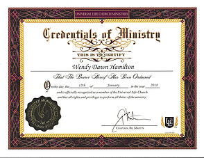 Universal Life Church Ordained Minister