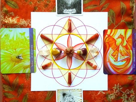 Lion's Gate - Crystal Grid: Recognize Your Inner-Strength and Magic