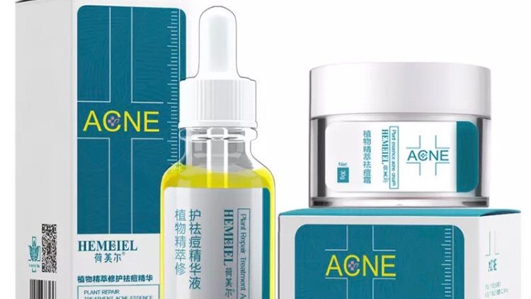 Hemiel  acne treatment + acne oil set of 2