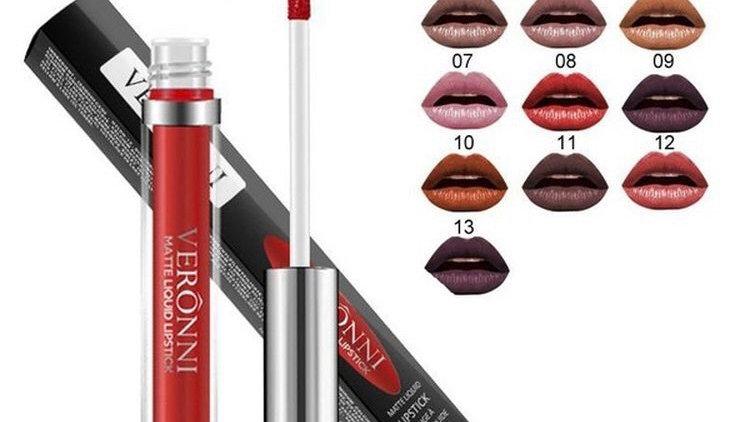 Veronni New waterproof matte liquid lipstick, moisturizer, smooth, lipstick