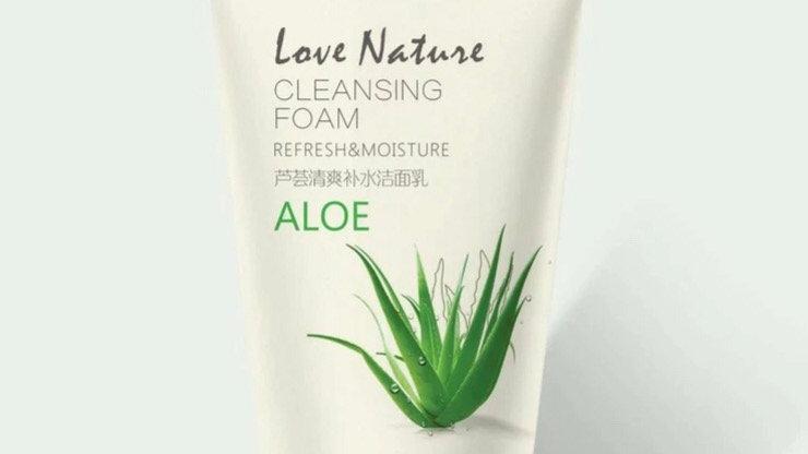 Aloe Facial Foam Cleanser Gel Deep Pore Cleansing Remove Blackheads Face Wash Sk