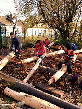 Volunteer timber framers