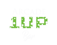 1 Up Arcade Bar Logo White- Round copy.p